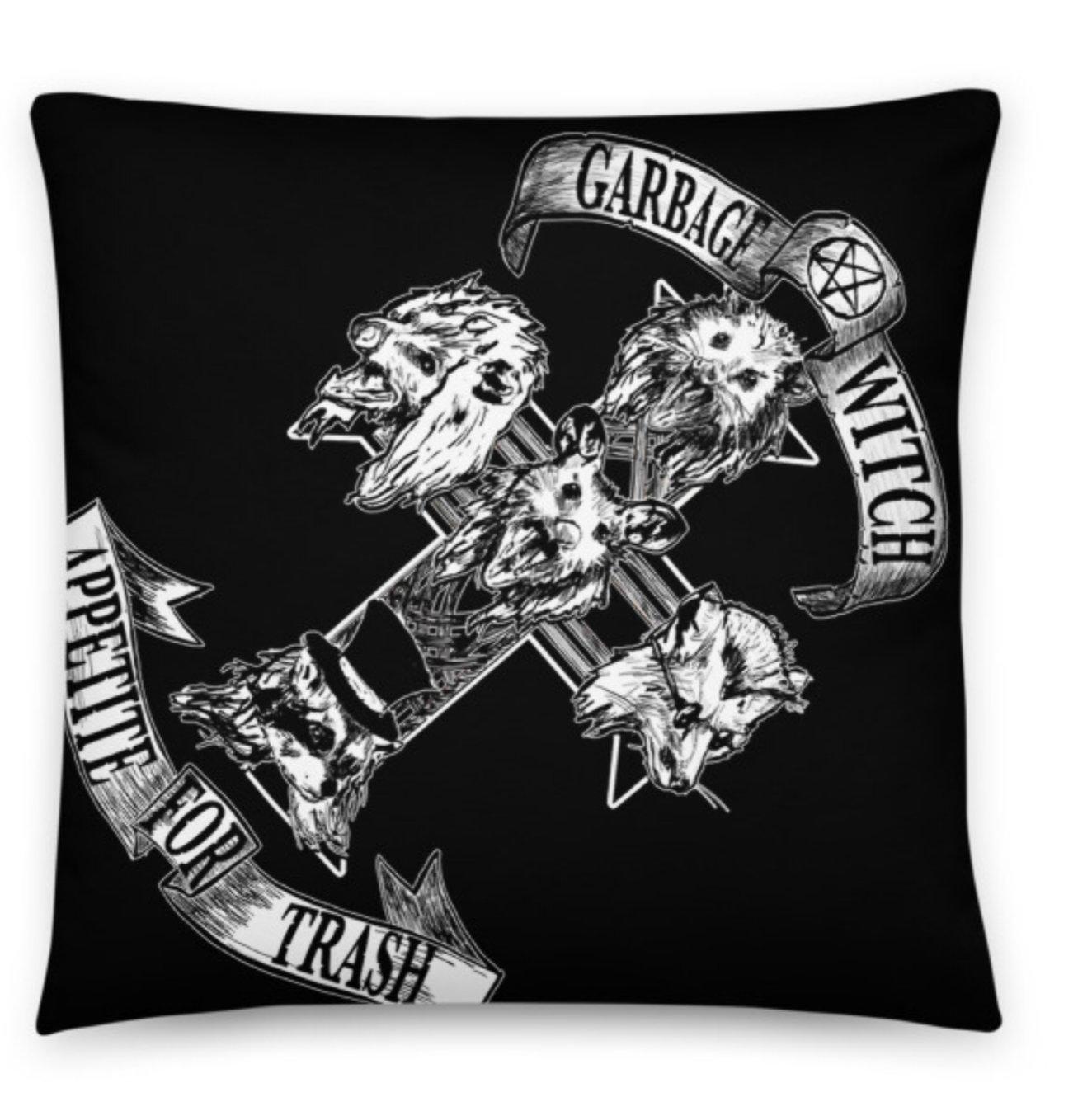 Garbage Witch Throw Pillows!