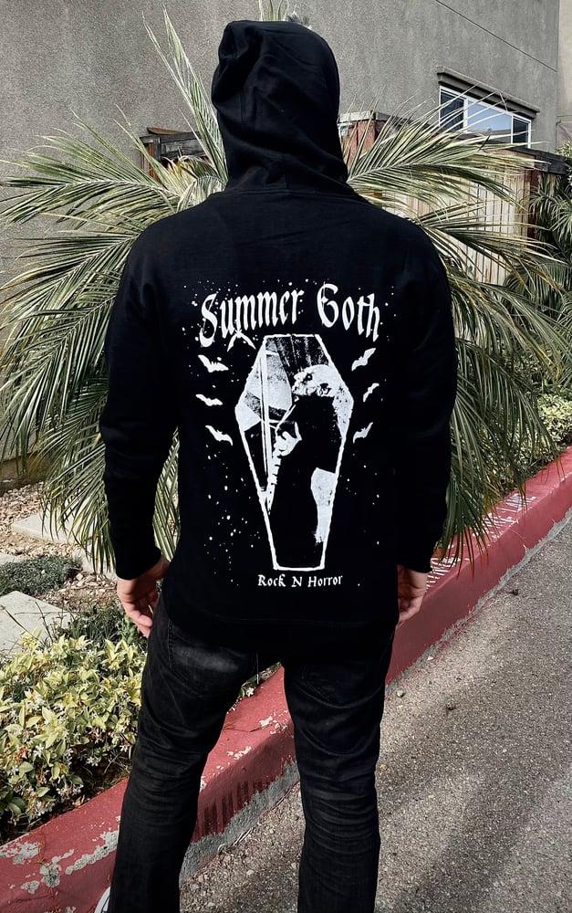 Image of Summer Goth Zip Up Hoodie