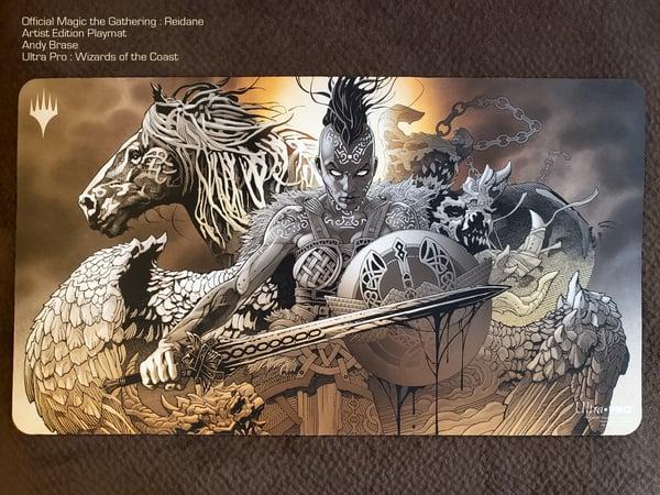 "Image of Magic PLAYMAT- Reidane: Legendary God (signed) <font color=""red"">NEW</font>"