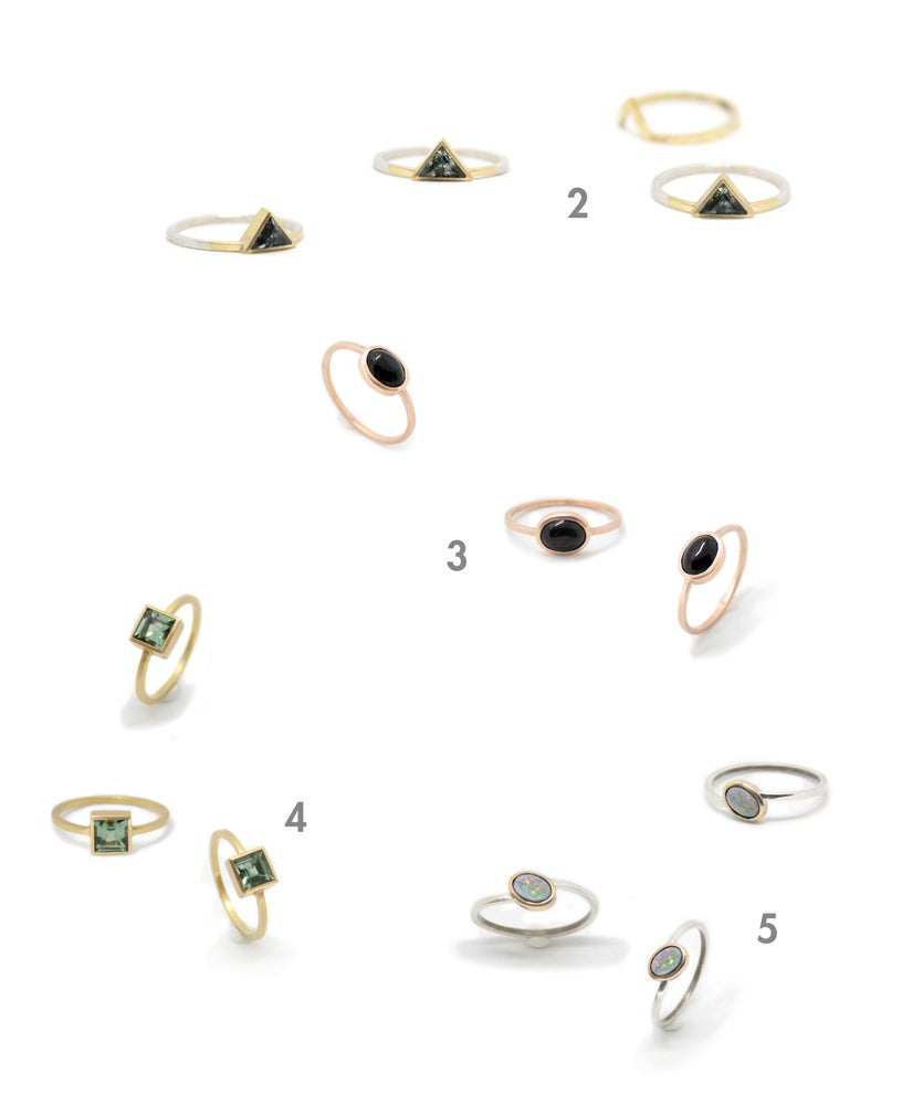 Image of CHUNKY FANCY STONE RINGS