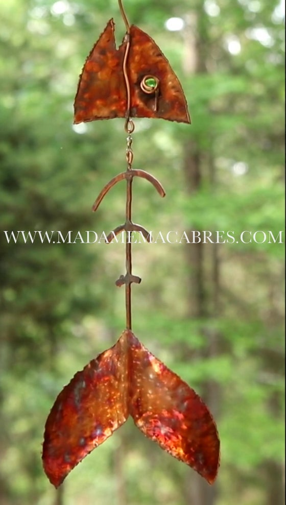 Image of Copper Fish Wind Catcher - Wind Spinner