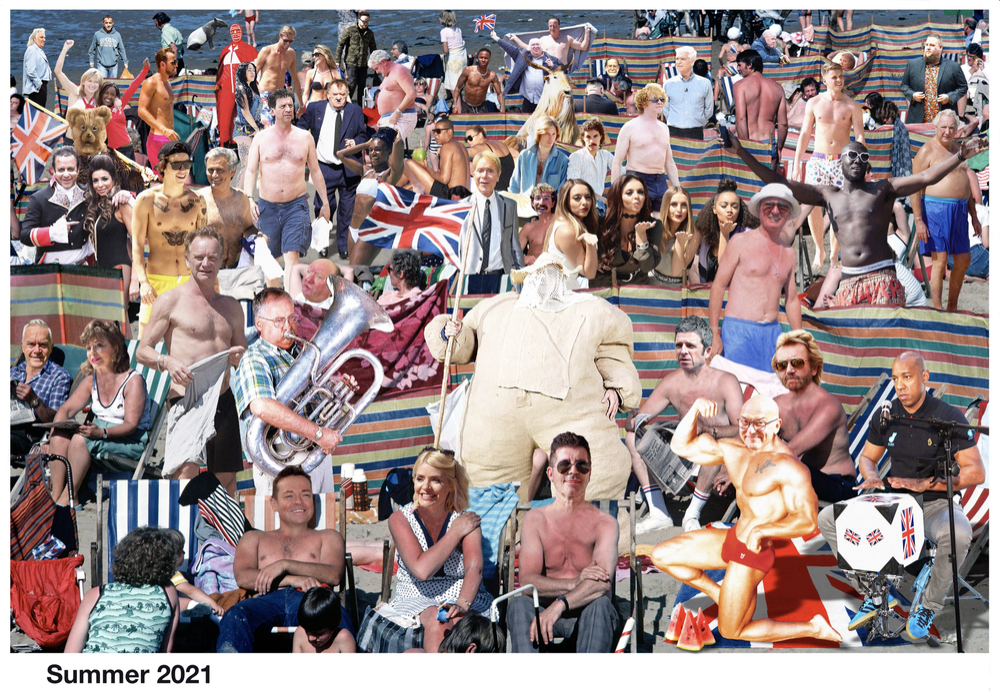 Image of The Cold War Steve Giant Postcard Art Piece 2021
