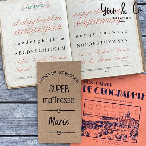 "Image of Carnet de notes personnalisable ""SUPER maîtresse, maître, Atsem, ..."""