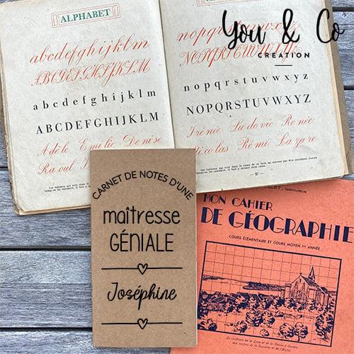 """Image of Carnet de notes personnalisable """"maîtresse, maître, Atsem, ... GÉNIAL(E)"""