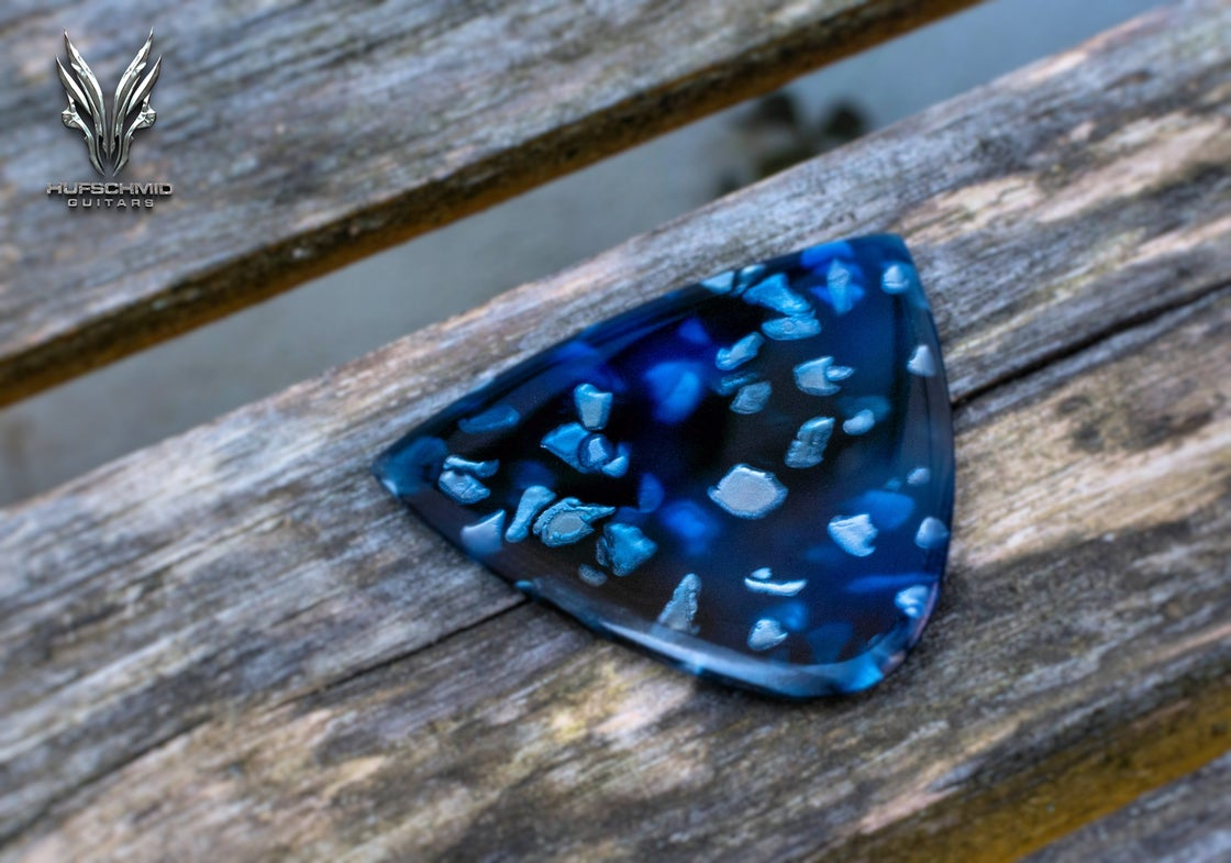 Image of NEW: 3mm 'Blue Universe' plectrums