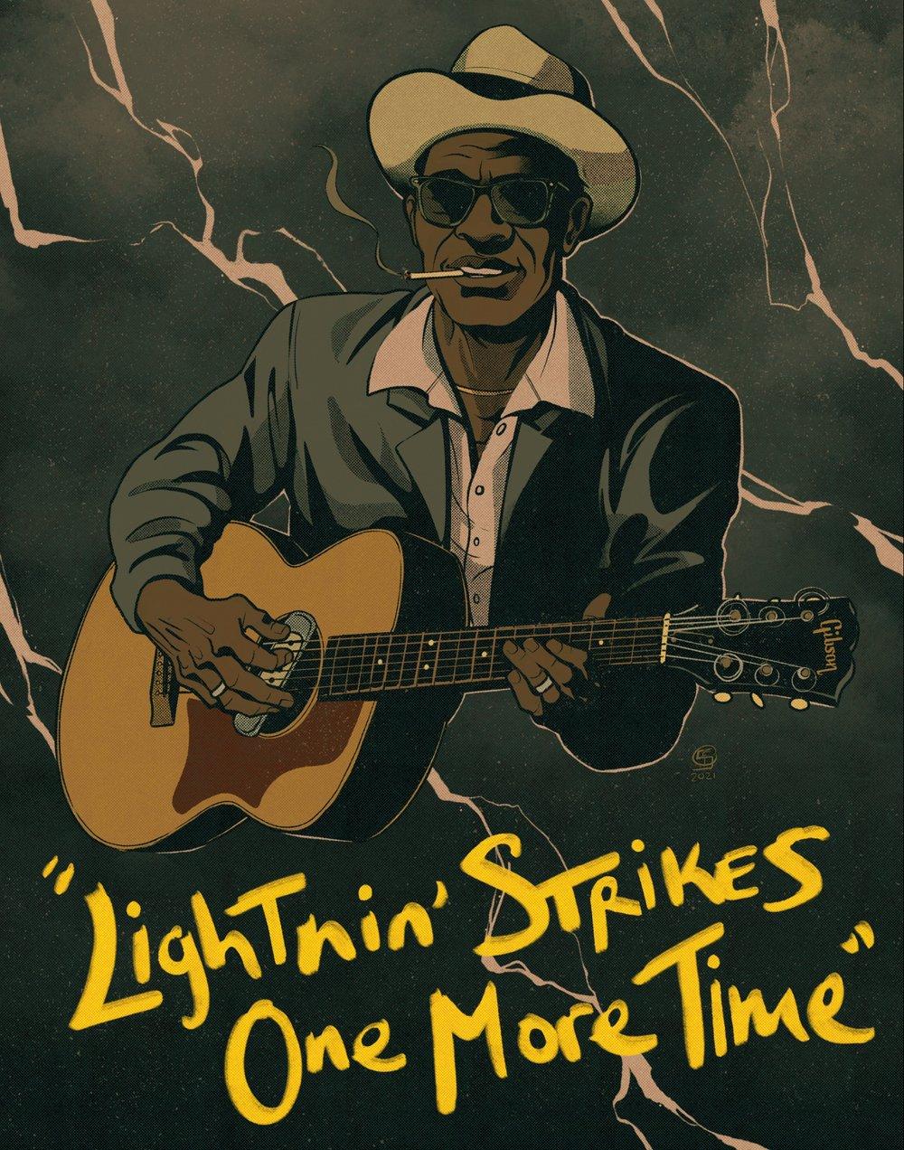Image of Lightnin' Hopkins Print