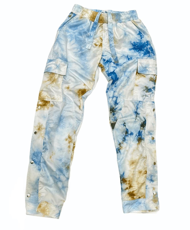 Image of Tie Dye Lightweight Button Zip Pants
