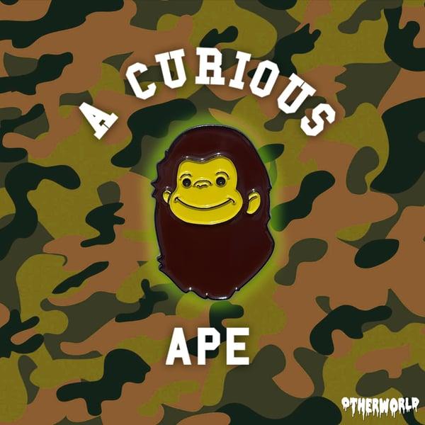 Image of A Curious Ape pin