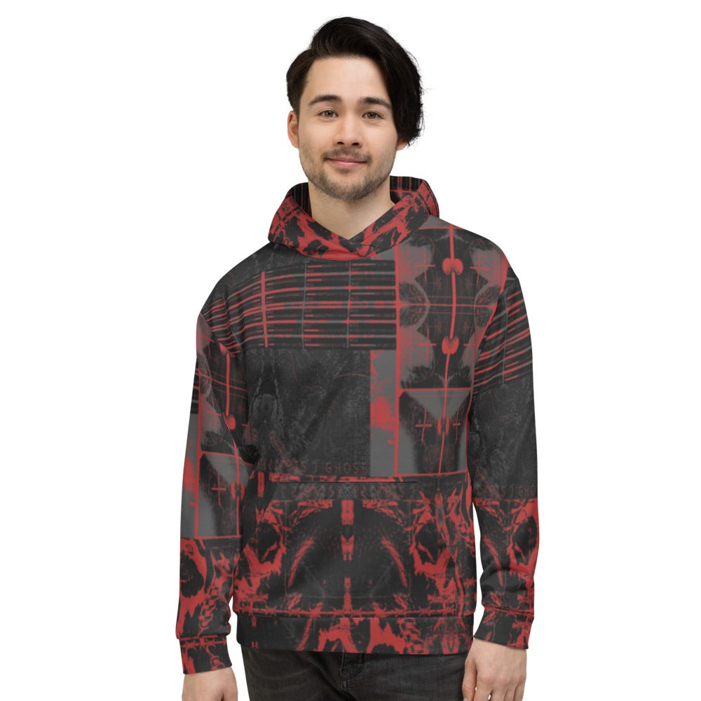 baskets ghost ep pattern all over print unisex hoodie