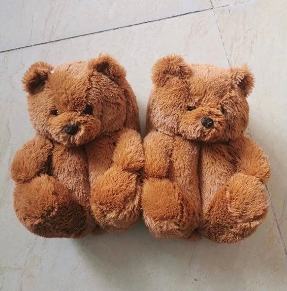 Kids Teddy Bear Slippers