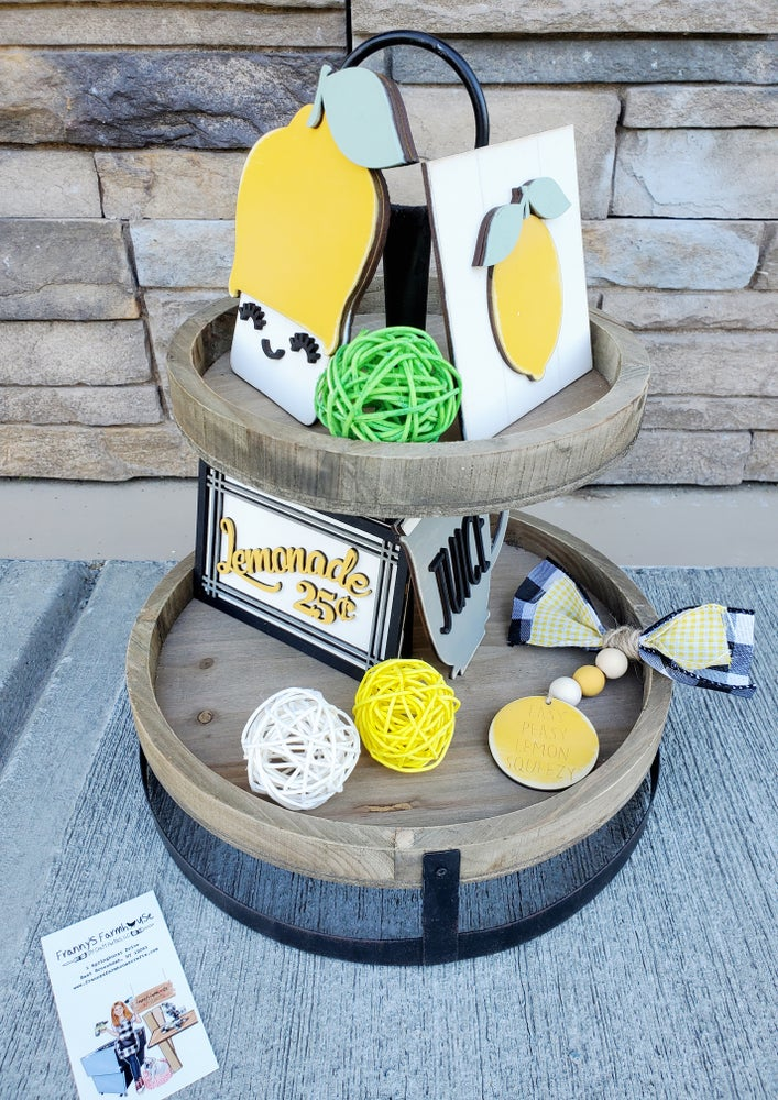 Image of Tiered Tray - Lemons