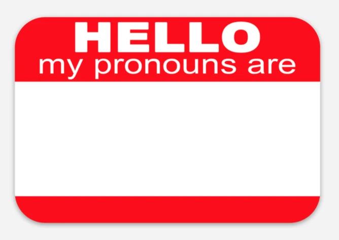 Image of Hello My Pronouns Are sticker