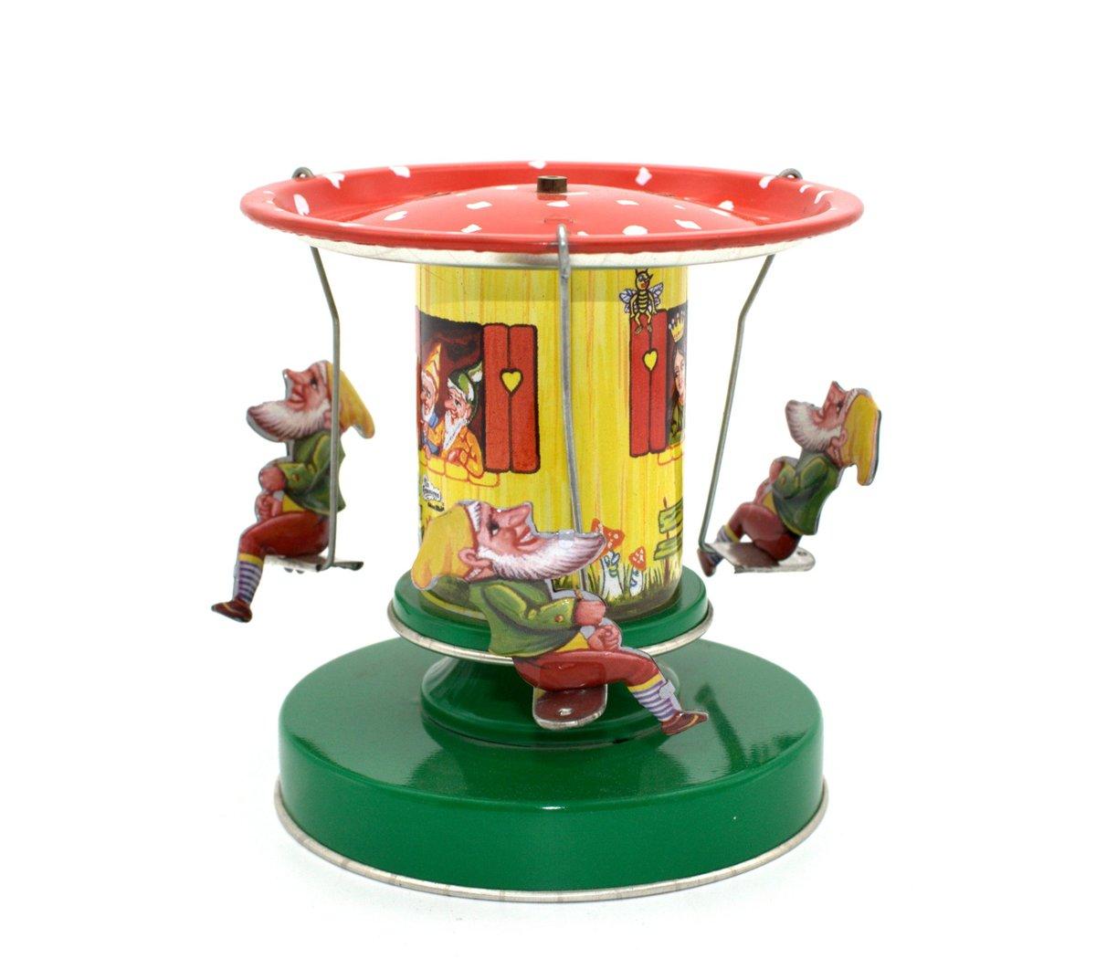 Image of Snow White & Dwarves Tin Toy Carousel