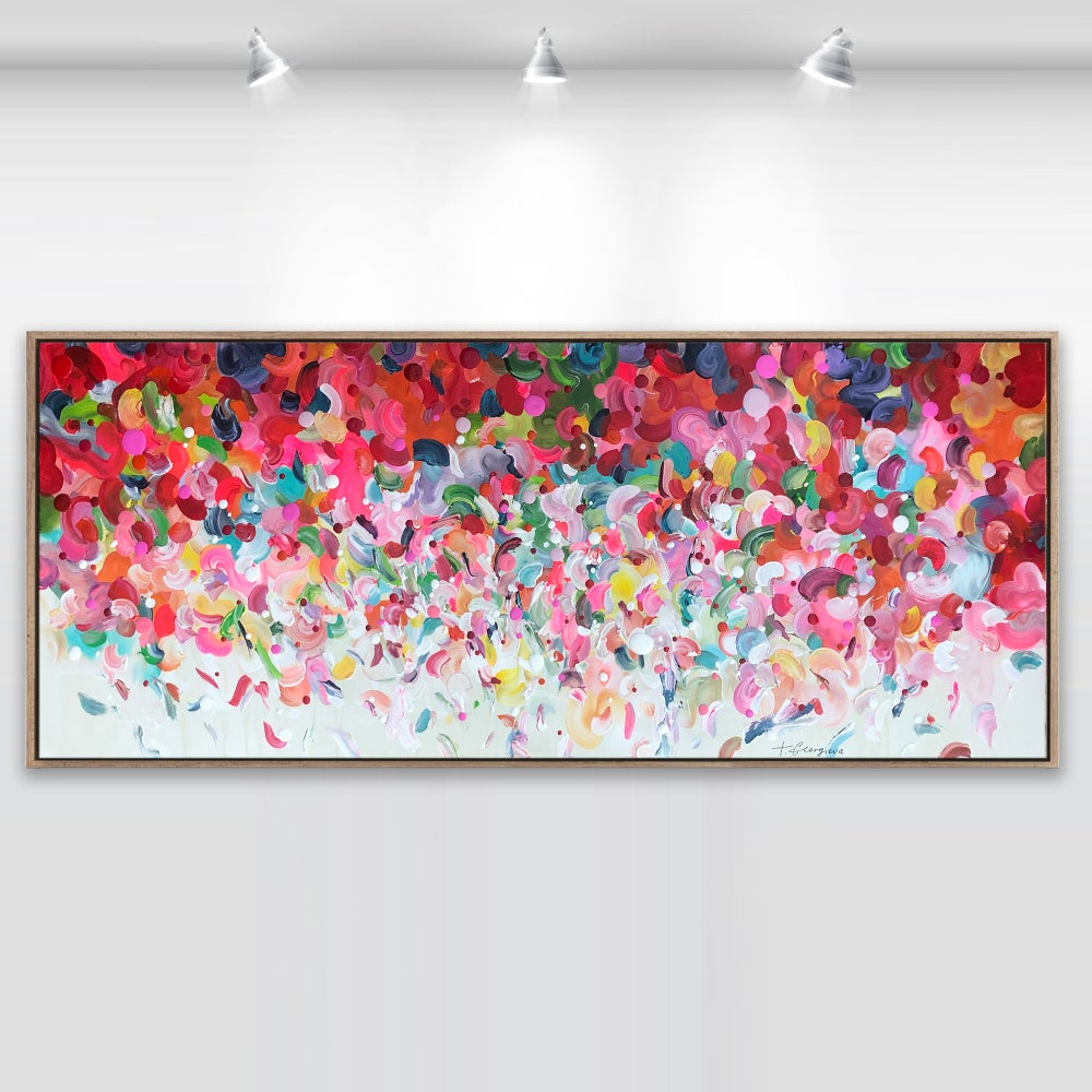 Image of 'Dance of Angels' - limited edition print on canvas FRAMED