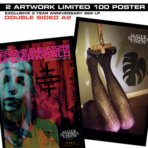 Image of 666 + Vicious Elevators - Limited 100 - 2 Artwork Poster