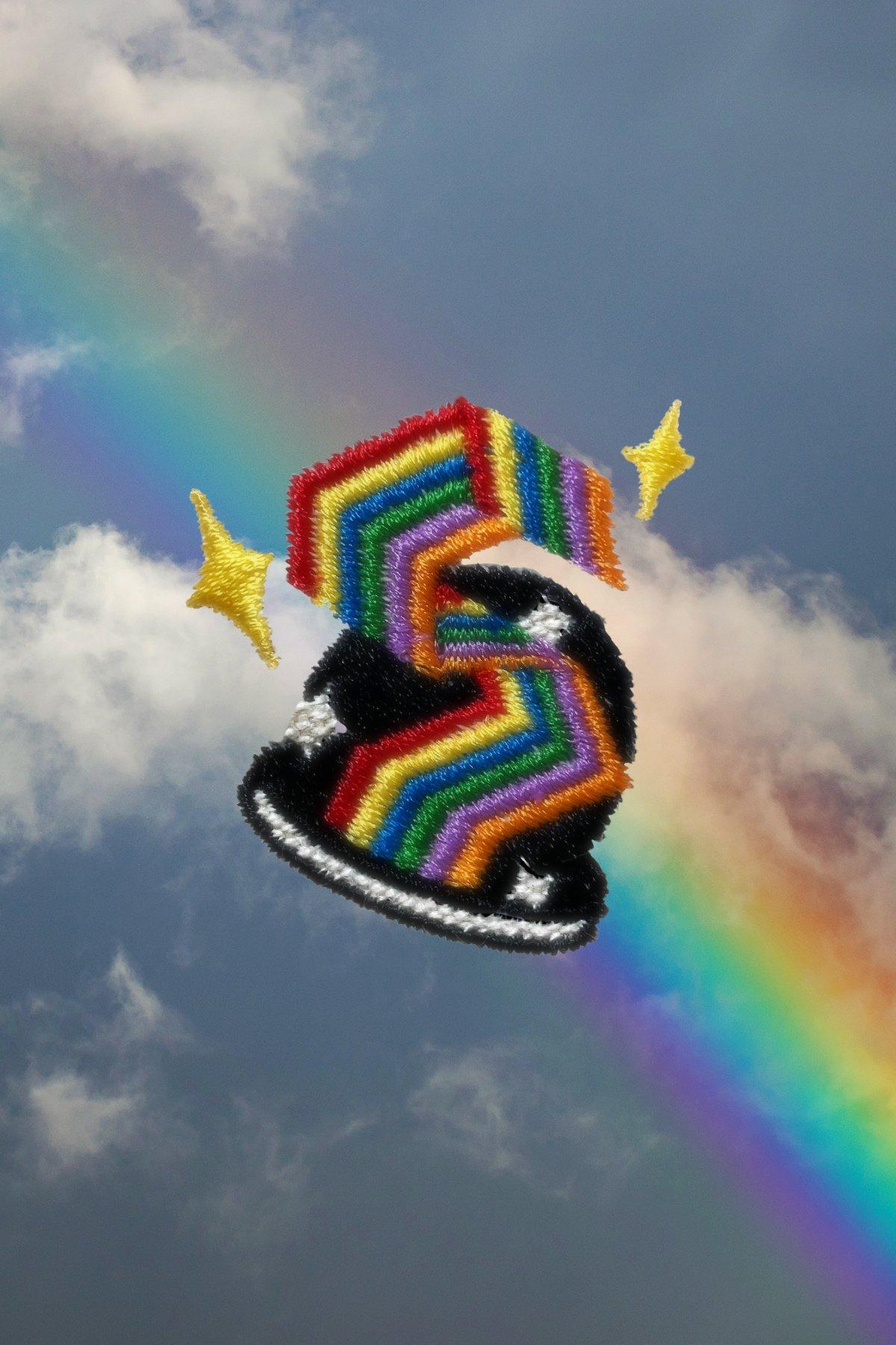 Image of 🌈Rainbow Embroidery Tee