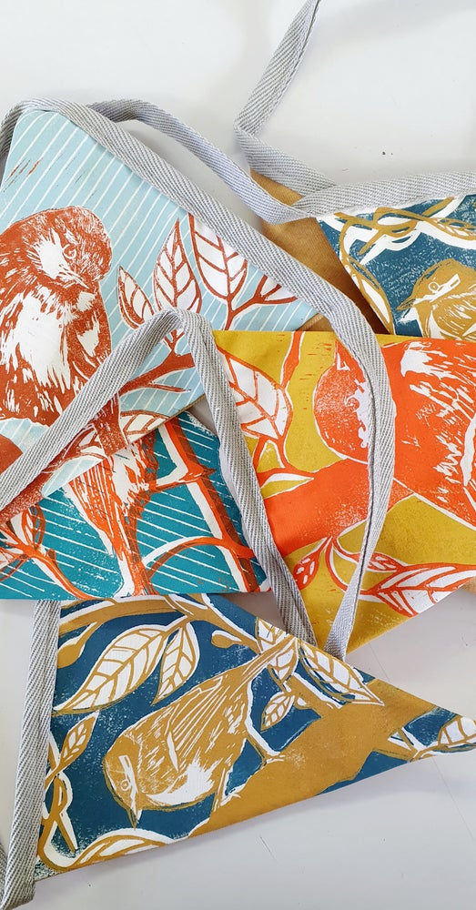 Image of Handprinted Bunting #6 : mixed colours