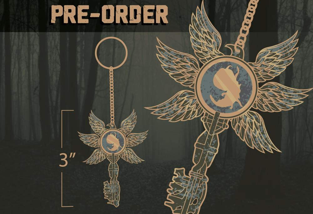 Six Wing Key Keychain