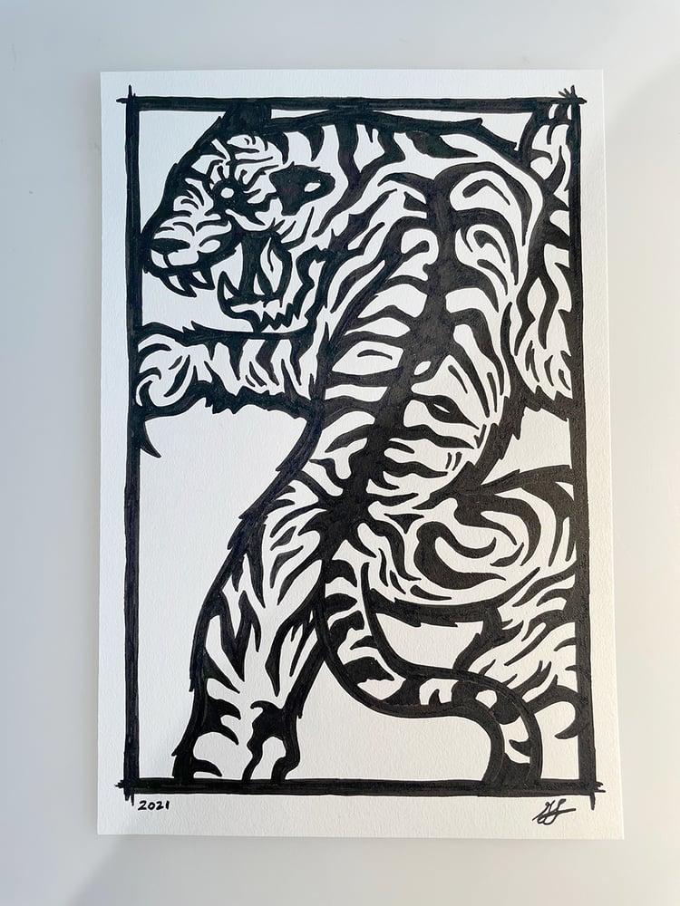 Image of Tiger Doodle #1