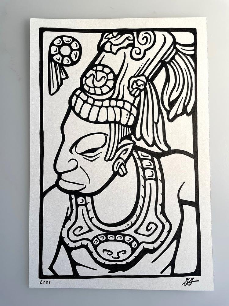 Image of Mayan Warrior Doodle