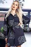 Dress-with long sleeve
