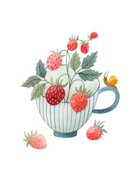 Image of Strawberry Cup Print