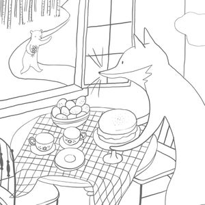 Image of Spring Visit Coloring Page