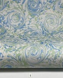 Marbled Paper Gouache Shades of Blue & Green - 1/2 sheets