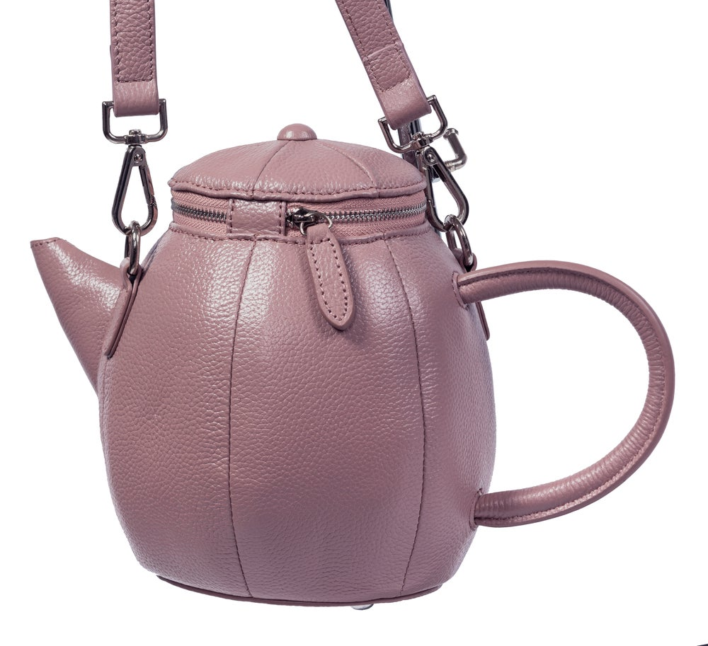 Image of Leather Teapot Crossbody Purse (3 Colors)
