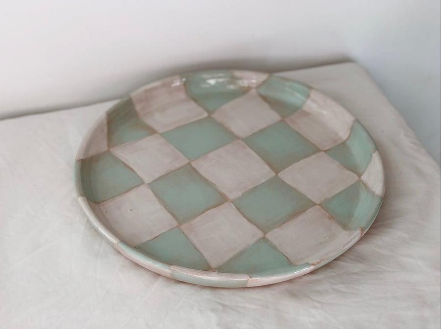 Image of PREORDER :: aqua/white plate