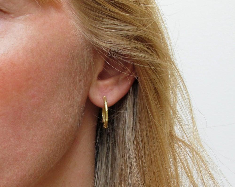 Image of Bamboo Hoop Earring