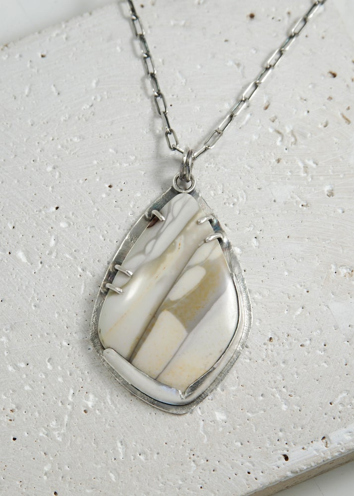 Image of Willow Creek Jasper, Prong Set Necklace