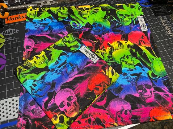 Image of Rainbow skulls