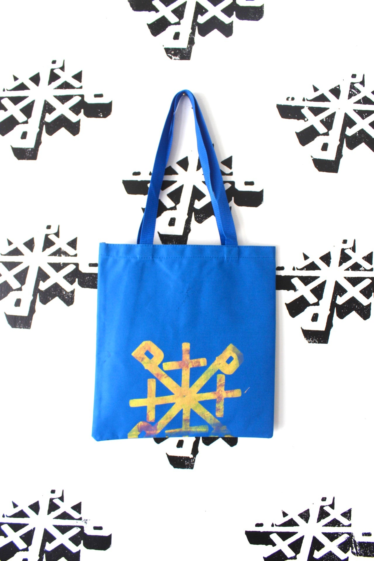 Image of the too many tote bag in blue