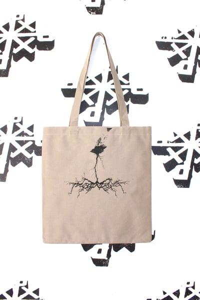 Image of spark something tote bag in tan
