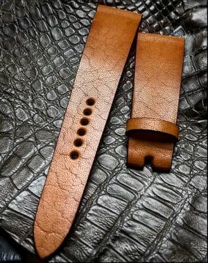 Image of Natural Vintage Tan Calfskin watch strap
