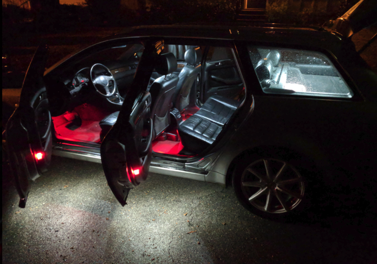 Image of Front & Rear Footwell LED Conversion Kit W/ REAR HOUSING Fits MK7 / 7.5 GTI/GOLF/GSW