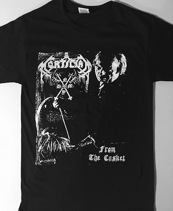 """Image of Mortician """" From The Casket """" T shirt"""