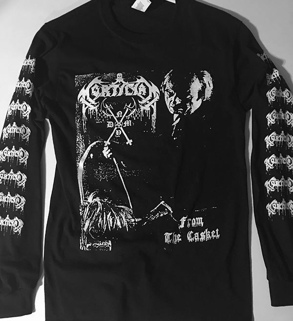 """Image of Mortician """" From The Casket """" Long Sleeve T shirt"""