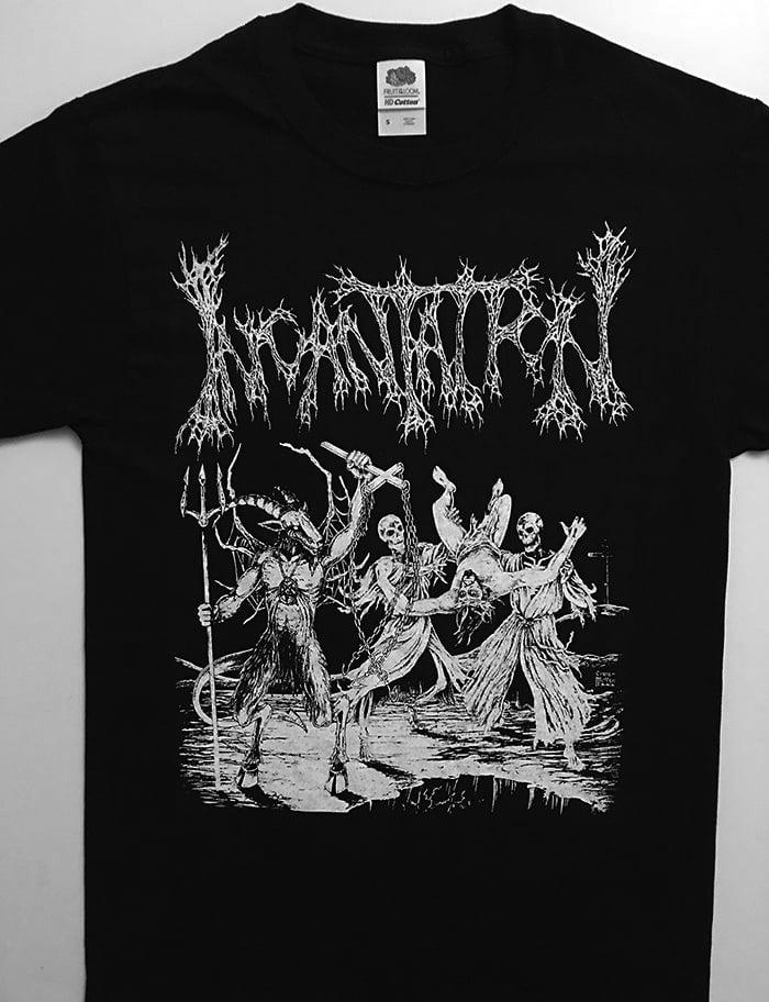 "Image of Incantation "" Blasphemous Cremation "" T Shirt"