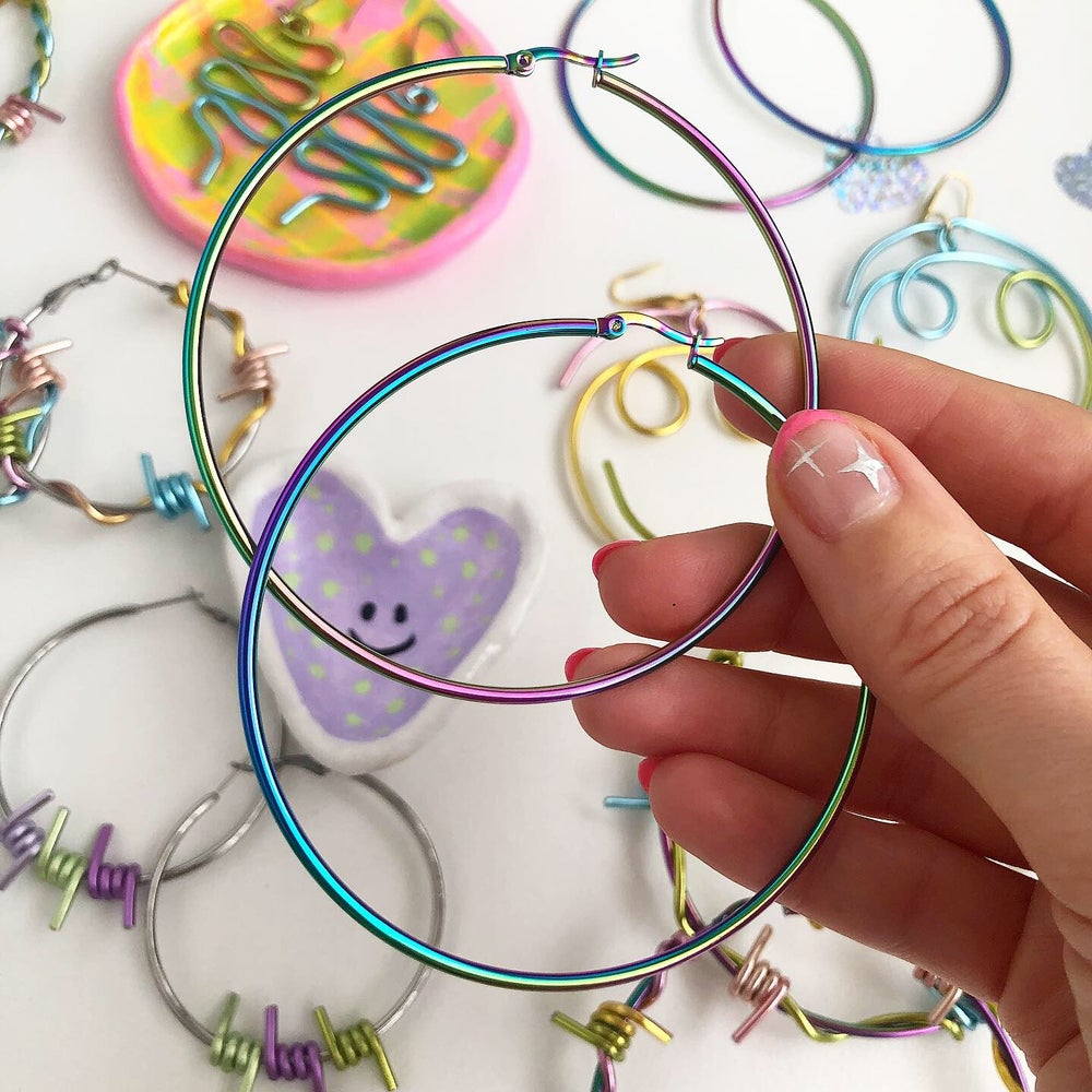 Image of CANDY COLOUR STEEL HOOPS