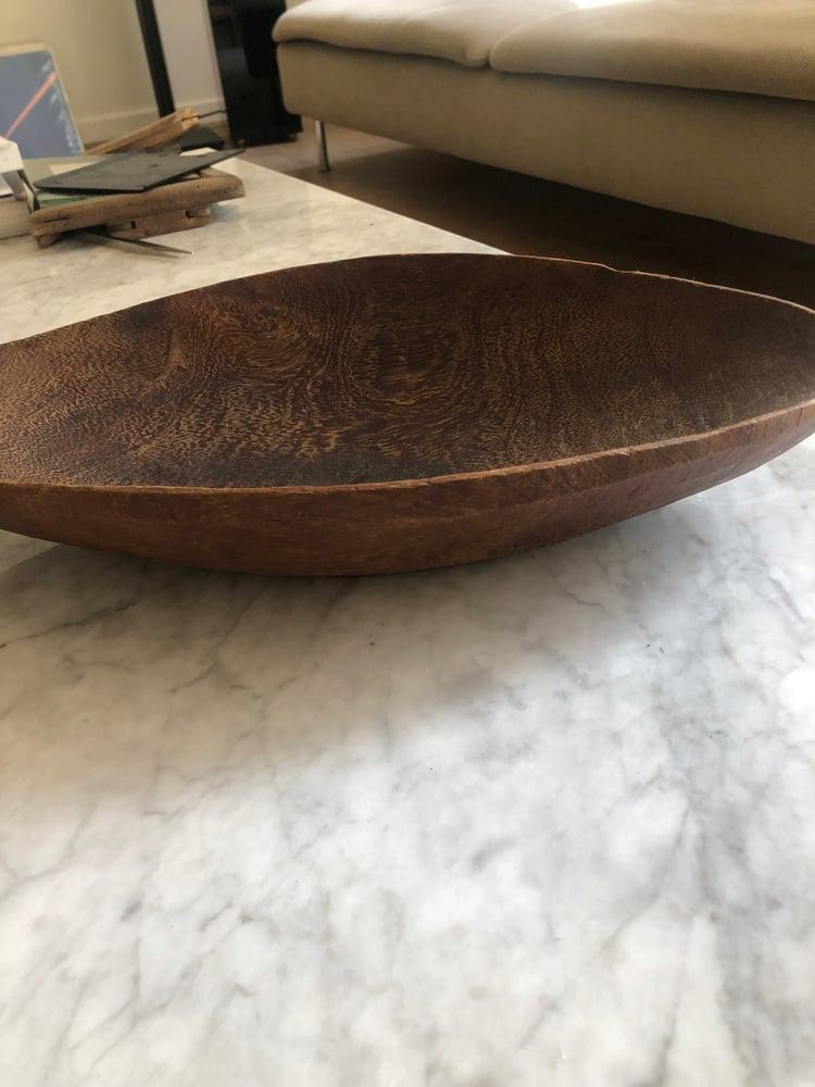 Image of Coupe en bois forme «Barque»
