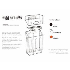 Image of SEWNSEWN - Cigg STL Box (Black)