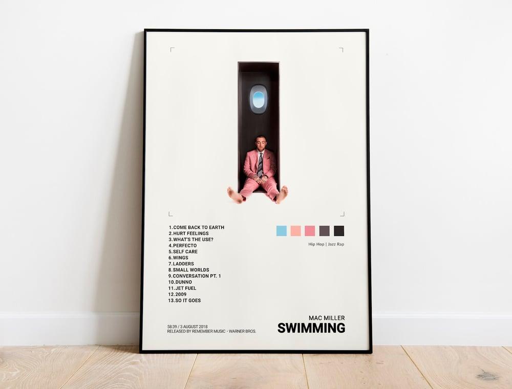 Mac Miller - Swimming Album Cover Poster