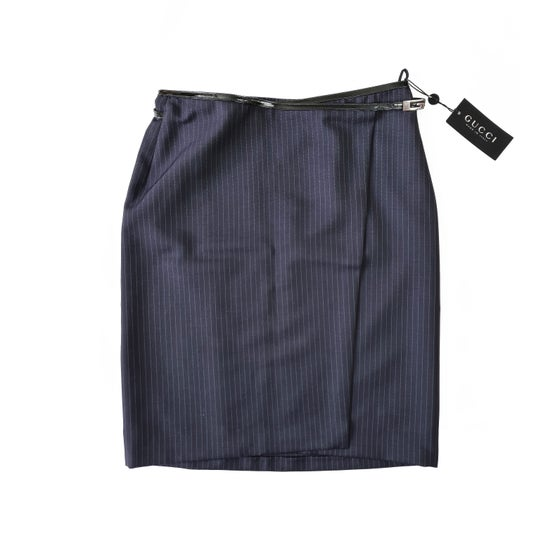 Image of Gucci by Tom Ford 1997 Pinstripe Skirt