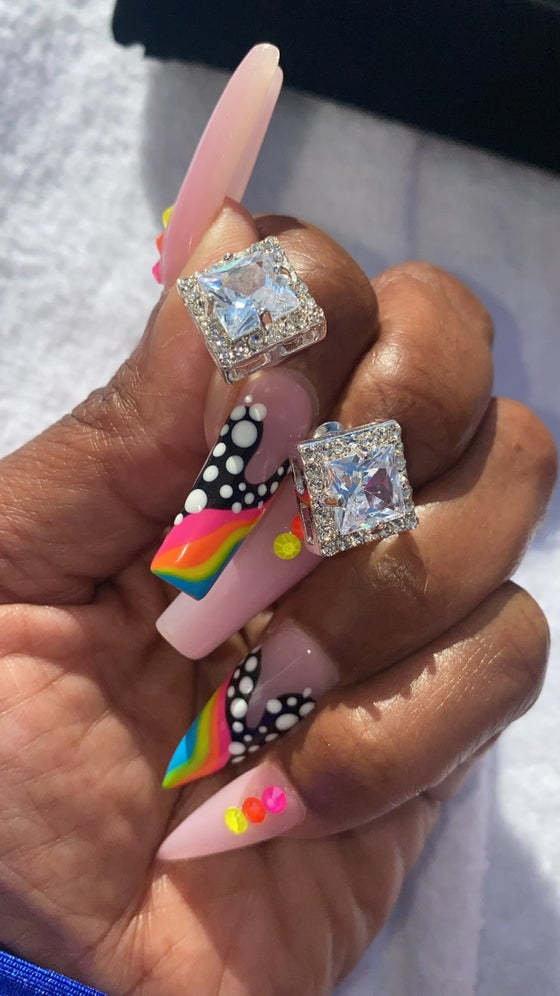 Image of Saweetie Oversized Square Studs