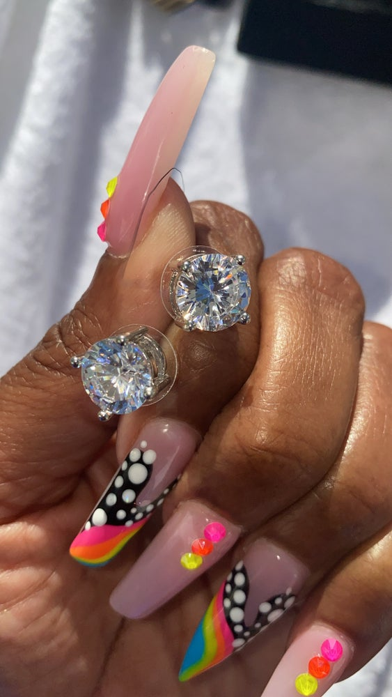 Image of Lala's Round Icy Studs
