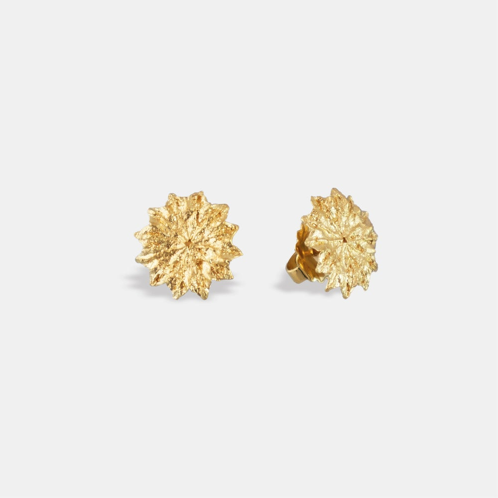 Image of PINK POPPY / EARRING / 24K GOLD-COATED SILVER