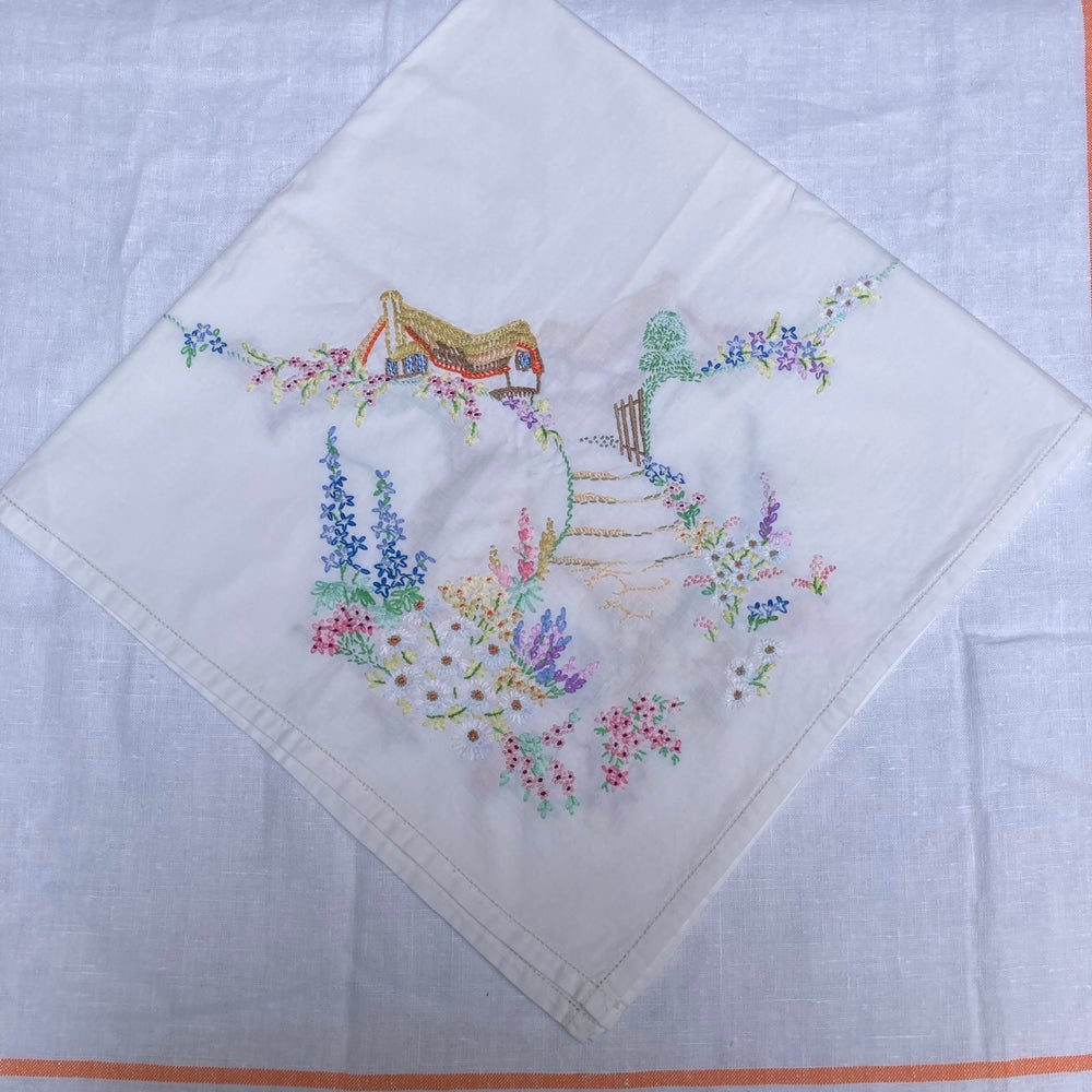 Image of Small tablecloth with embroidery