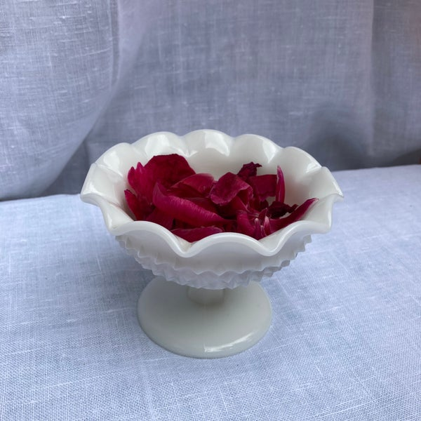 Image of Milk glass fluted dish